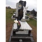 Елітний--одинарний-пам'ятник-надгробний-з-білого-граніту-з-скульптурою-ангела