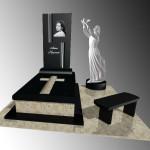 Екслюзивні пам'ятники одинарні .Скульптура Ангела