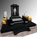 Ексклюзивні пам'ятники одинарні з габро