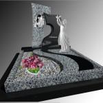 Елітний пам'ятник з покостівського граніту та габро