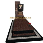 вишуканий гранітний пам'ятник з червоного граніту