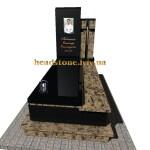 елітні пам'ятники гранітні з хрестом