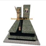 надгробний пам'ятник з граніту одинарний
