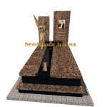 елітний гранітний пам'ятник для хлопця