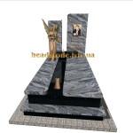 елітний пам'ятник надмогильний з білого граніту