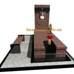 одинарний гранітний пам'ятник для жінки