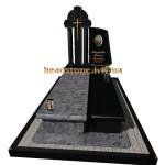 одинарний комбінований пам'ятник на могилу