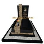 одинарний гранітний пам'ятник для хлопця