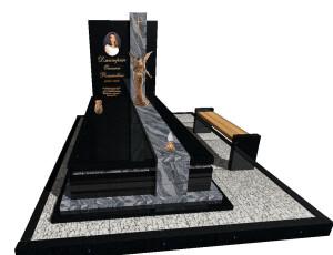 елітний пам'ятник граніт з ангелом