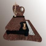 Памятник одинарний Граніт-Токівсткий,Хрест латунний
