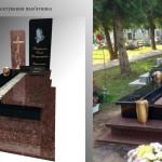 пам'ятник надгробний з граніту Елітний на одного, 3d проект пам'ятника гранітного, Декор для пам'ятника надмогильного, Ритуальна  скульптура Ангела