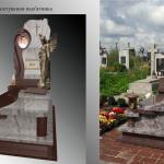 пам'ятник надгробний з граніту Елітний одинарний ,3Dмоделі пам'ятника надмогильного, Бронзова фурнітура для пам'ятника гранітного, Ритуальна  скульптура Ангела