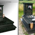 пам'ятник надгробний з граніту Елітний Для чоловіка ,3D проектування памятника гранітного, Бронзові букви на пам'ятник, Скульптура на пам'ятник гранітний