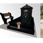 пам'ятник надгробний з граніту Елітний На двох ,Проект пам'ятника на могилу, 3Dмоделі пам'ятника Декор для пам'ятника , ритуальна ангела Статуя на цвинтар