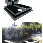 пам'ятник надгробний з граніту українського Елітний , 3d проект пам'ятника гранітного, Бронзові букви на пам'ятник, ритуальна ангела Статуя на цвинтар