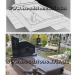 пам'ятник надгробний з граніту Елітний Для жінки, Проект пам'ятника на могилу, Бронзовий хрест на пам'ятник, Скульптура на пам'ятник гранітний