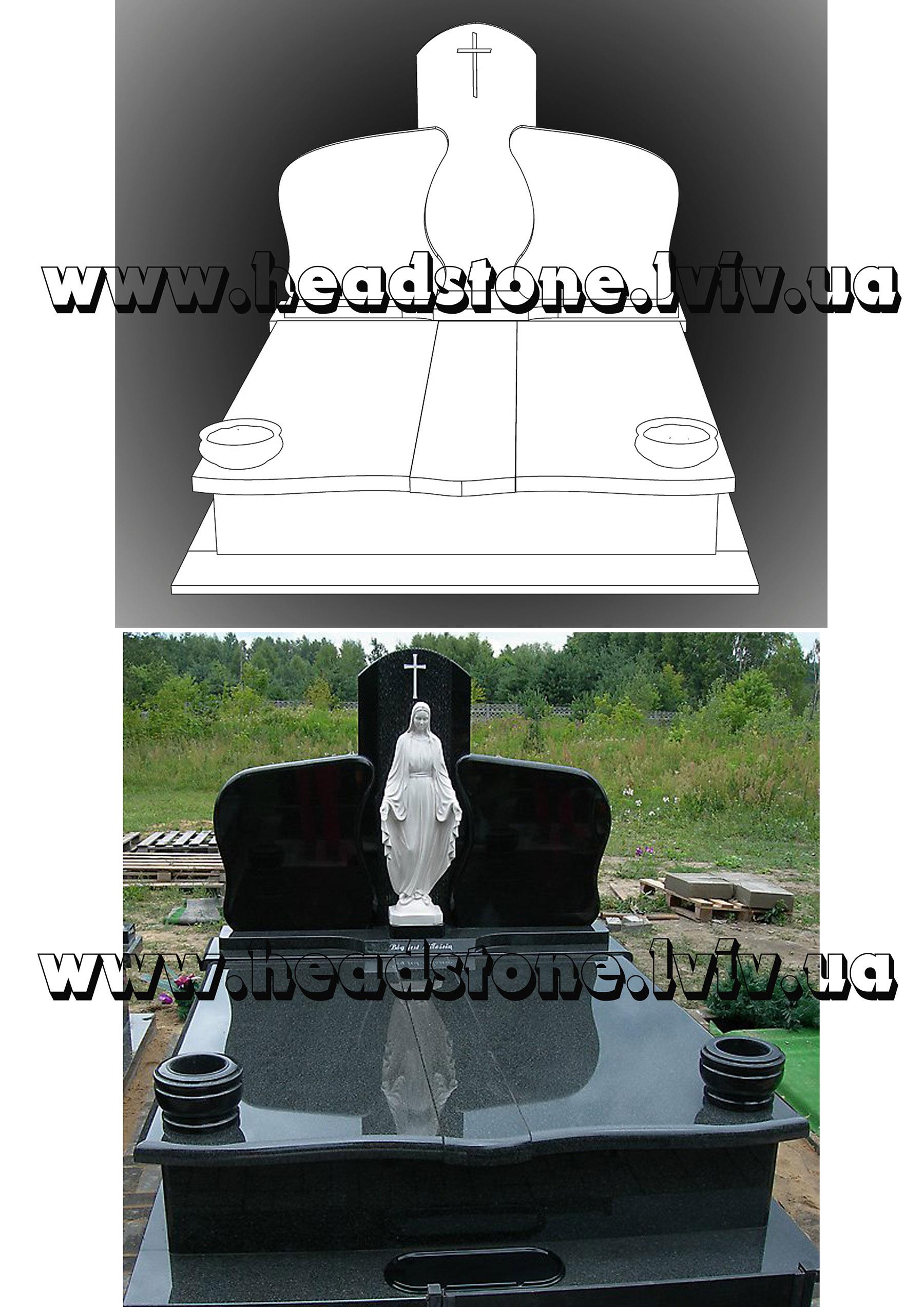 3d проектування памятники подвійні