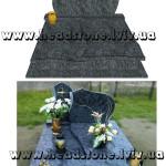 пам'ятник надгробний з граніту Елітний на двох, 3d проект пам'ятника гранітного, Декор для пам'ятника надмогильного, Ритуальна  скульптура Ангела