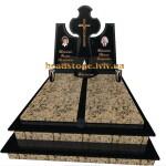подвійний пам'ятник на двох з граніту