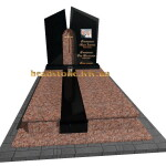 пам'ятник надгробний гранітний подвійний