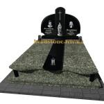 пам'ятник комбінований на могилу з зеленого граніту