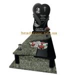 одинарний гранітний пам'ятник