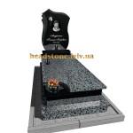 одинарний пам'ятник на могилу для жінки