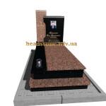 одинарний пам'ятник на могилу для дівчини
