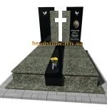 елітний подвійний пам'ятник на двох з граніту