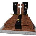 подвійний пам'ятник елітний  на могилу
