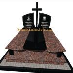 подвійний пам'ятник з хрестом