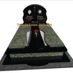 гранітний надмогильний з хрестом на могилу