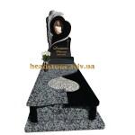 одинарний пам'ятник з граніту з ангелом елітний