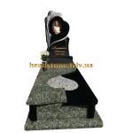 одинарний пам'ятник з граніту з ангелом ексклюзивний