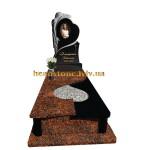 одинарний пам'ятник з граніту з ангелом