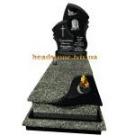 одинарний пам'ятник з граніту