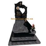 гранітний пам'ятник для жінки