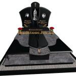 гранітний пам'ятник подвійний комбінований