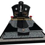 подвійний пам'ятник з габро і покостівки