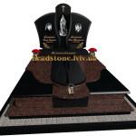 елітний пам'ятник двійний з Токівського та букинського граніту
