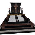 елітний пам'ятник гранітний з хрестом