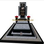 ексклюзивний гранітний пам'ятник з білого граніту та букинського