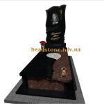 надгробний пам'ятник з хрестом для тата