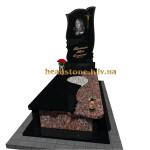 одинарний пам'ятник гранітний фігурний
