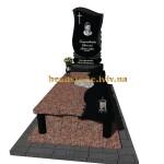 гранітний пам'ятник з хрестом для батька