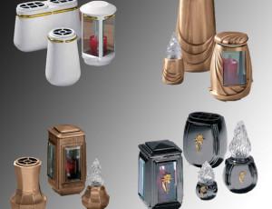 Бронзові вази і лампадки на пам'ятник