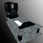 Одинарний пам'ятник з покостівського граніту та габро