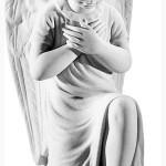 Ритуальна скульптура Ангела №129 розм:35,5*15*21,5