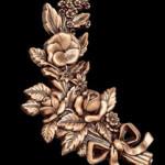 бронзовые цветы на памятник