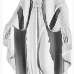 Ритуальна скульптура Марії №166 розм:52*20,5*13